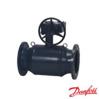 Кран шаровой сталь Premium JiP/G-FF Ду150 Ру25 фланцевый стандартнопроходной редуктор Danfoss 065N0351G