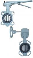 Затвор поворотный дисковый. BUV-VF Серия 863 Ру 16 Ду32-600 Ру16 GG25 / AISI316 / NBR с рукояткой или редуктором