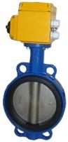 Затвор поворотный дисковый Ру16 Ду32-300 с электроприводом 1х220В