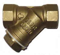 Фильтр сетчатый резьбовой латунный Ду 8-50 Ру 16, ABRA-YS-3000E