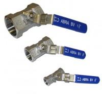 Шаровые краны нержавеющие из стали AISI316 (CF8M) Ду 8-50 Ру40 внутренняя резьба/внутренняя резьба ABRA-BVA1400A