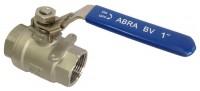 Шаровые краны полнопроходные нержавеющие из стали AISI316 (CF8M) Ду 8-50 Ру40 внутренняя резьба/внутренняя резьба ABRA-BV027A