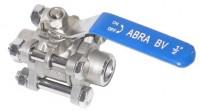 Шаровые краны полнопроходные нержавеющие из стали AISI316 (CF8M) Ду 15-100 Ру40 сварка/сварка стандартные патрубки Тип ABRA-BV61A