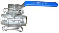 Шаровые краны полнопроходные нержавеющие из стали AISI316 (CF8M) Ду 15-100 Ру40 сварка/сварка стандартные патрубки Тип ABRA-BV61 c ISO верхним фланцем