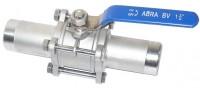 Шаровые краны полнопроходные нержавеющие из стали AISI316 (CF8M) Ду 15-100 Ру40 сварка/сварка длинные патрубки Тип ABRA-BV61L